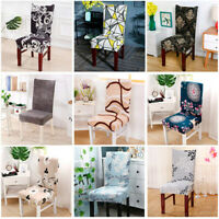 2/4/6 Stretch Spandex Chair Covers Removable Slipcovers Seat Cover Dining Decor