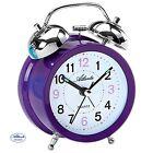 Atlanta 1743/8 despertador cuarzo Reloj DE Campana Doble Púrpura VIOLETA