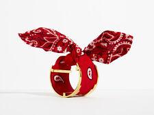 Monica Sordo x Viva Aviva Red Bandana Cuff w/Gold Hardware O/S - NIP