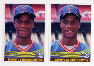 Lot of (2) 1984 Donruss Baseball Darryl Strawberry Rookie #68 RC New York Mets