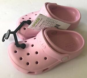 New Kids CROCS Coast Clogs Pink Size C9 New with Tags