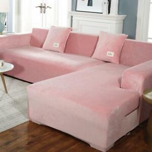 Couch Cover Elastic For Furniture L Living Plush Room Shaped Sofa Velvet