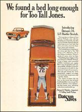 1975 classic Pickup truck AD DATSUN Lil Hustler holds TOO TALL JONES  041516