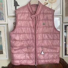 NWT MONCLER GUI VEST Jacket Double Zipper Gilet Size 6 RARE LIGHT PINK 56