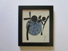 VINTAGE JAPANESE? CHINESE? KOREAN? 1960'S ABSTRACT PAINTING MYSTERY ARTIST MOD