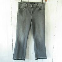 J Brand Jeans 30 Earl Gray Selena Mid Rise Crop Relaxed Released Frayed Hem