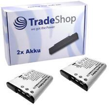 Batería 2x para Sony dsc-w50 dsc-w35 dsc-h3 npbg 1 np-bg1