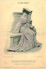 Publicité ancienne  la mode pratique robe de diner mousseline  No 36 1903