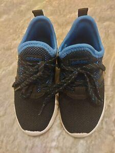 Boys Blue Adidas Trainers Size Uk 11 1/2