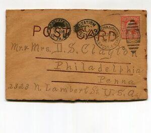 USA Postal Station Shanghai China Home Made Leather Post Card
