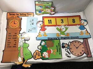 1979 DISNEY Vintage Let's Learn To Tell Time Bulletin Board Teacher Educational