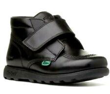 New Boys Kickers Fragma  Leather School Shoes Black UK 8 Infant  EUR 25