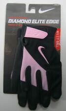 Nike Diamond Elite Edge T-Ball Batting Glove Black/Pink Youth Unisex M/L