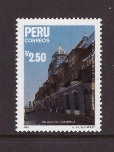 Peru MNH 1987 Architecture Lima mint stamp