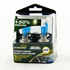 MEGA White Xenon Effect H7 12v 55w Headlight Bulbs Twin Pack