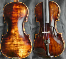 Fine 4/4 Antique German Baroque Violin lab Reichert 19th c + Video Fiddle ヴァイオリン