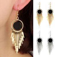 UK_ Luxury Women Long Dangle Hook Earrings Unique Cocktail Statement Jewelry Sho