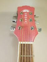Luna Aurora Borealis 3/4 Pink Sparkle Acoustic Travel Guitar