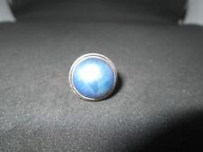 Azul De Plata Anillo De Perla