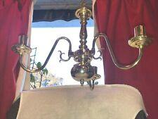 vintage 3 arm brass chandler