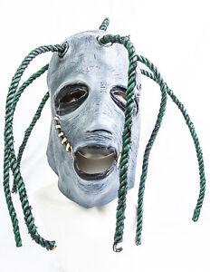 Corey Taylor style full head latex mask with dreadlocks slipknot fancy dress