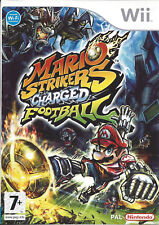 MARIO STRIKERS CHARGED FOOTBALL for Nintendo Wii - with box & manual - PAL