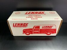 1950 Die Cast Chevy Panel Truck Bank Lennox New In Box - ERTL 1992 1:25 Scale