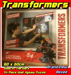 Transformers Glow In The Dark 54 Piece Wall Jigsaw Puzzle 60 x 60cm New Boxed