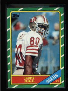 JERRY RICE 1986 TOPPS #161 SAN FRANCISCO 49ERS ROOKIE RC N6096