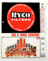 Ryco filters car/truck 1988 parts catalogue