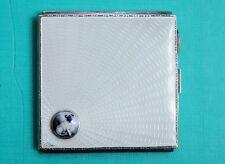 England  Zigarettenetui Silber Emaille  MOPS  enamel cigarette case MOPS um 1933