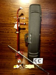 Solid Rosewood Chinese Erhu,2-stringed Fiddle+Deluxe Hard Case,Mute,Tuner LY#290
