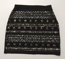 Womens Alya Embellished Mini Skirt Size Small
