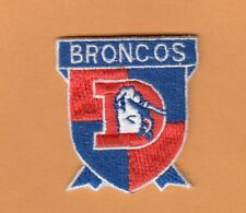 OLD LOGO DENVER BRONCOS SHIELD PATCH UNUSED STOCK IRON ON SHIRTS HAT BABY ITEM