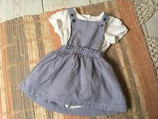 Fille Bébé robe-tablier ensemble taille 3-6 mois m&s