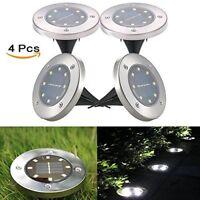8 LEDs IP65 Impermeable Luz Solar de Tierra al aire libre para Jardín Deck light