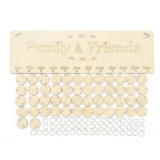 Wooden Family Birthday Reminder Plaque Sign Board Calendar Tags Christmas G L8y0