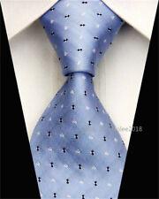 Fashion Wedding Silk Tie Slim Necktie Men Black Blue Business Plaid Skinny Ties