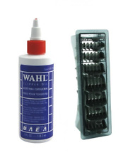 Wahl Clipper Oil 4oz and Wahl 1-8 Black Clipper Comb Set