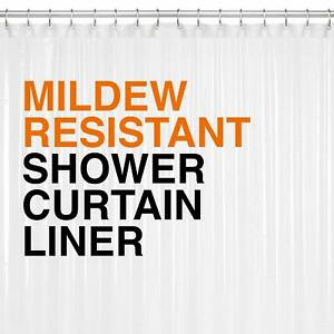 LiBa Heavy Duty 10G Clear Shower Curtain Liner, Mold and Mildew Resistant 72x72