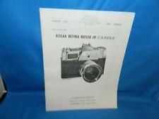 Vintage Original Kodak Retina Reflex IV Camera Service Manual