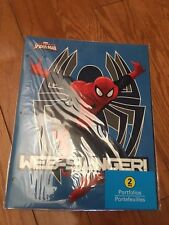 Marvel ULTIMATE Spider Man Web Slinger 3 Ring Portfolio 2 Folder Comic Hero. (2)