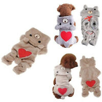 Cute Bear Costume Jumpsuit Hoodie Pet Clothes Apparel For Dog