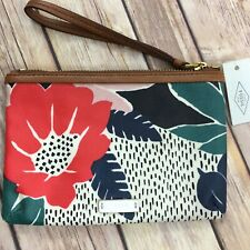 New Fossil Keely Wristlet Wallet Floral Zipper Pouch NWT
