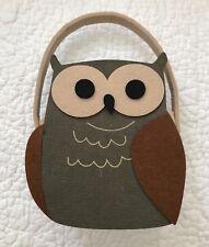 Nwot New Barn Owl Felt Basket Bag Gift Bag Purse Fall Decor (Loc 10)