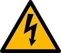 Sticker decal vinyl car bike bumper electric warning danger
