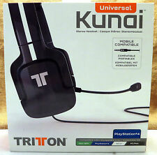 NEW Tritton KUNAI Black Headband Headset Compatible with PS3 PS4 Wii U Xbox 360