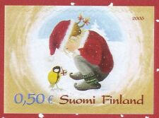 Finland 2006 MNH Stamp - Christmas - An Elf with a Bird - Snow