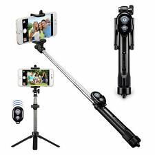 Black Extendable Tripod Selfie Stick With Bluetooth for Samsung Nokia LG Huawei