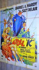 laurel et hardy ATOLL K  ! affiche cinema 1951